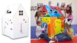Easy Cardboard Playhouse