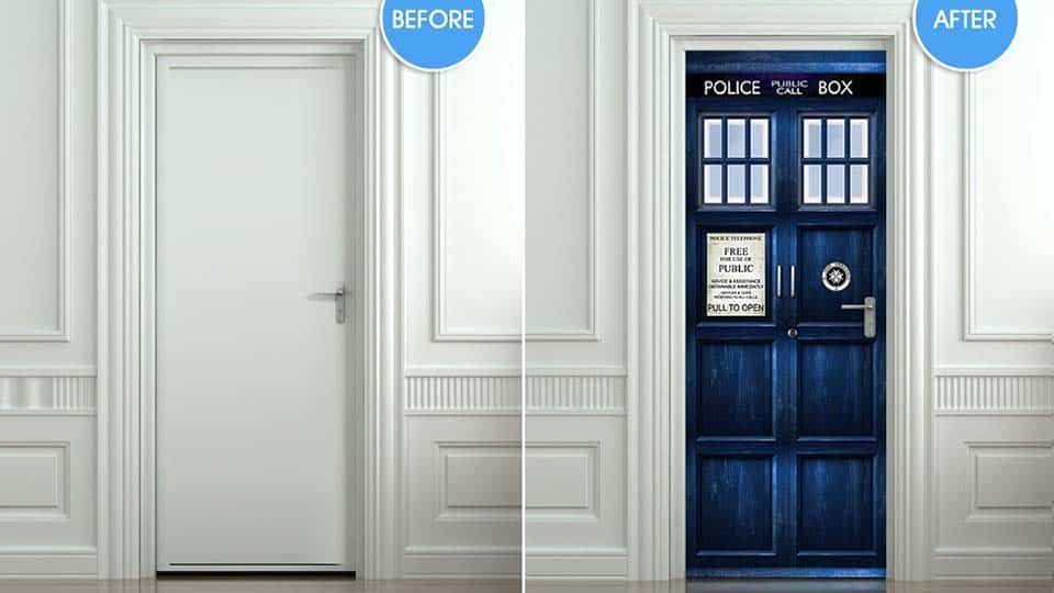 Tardis Police Box Door Sticker