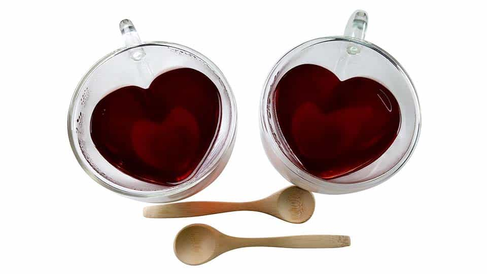 Heart Shaped Tea Cup Set
