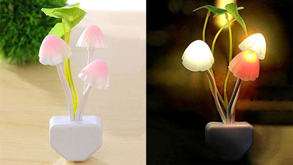 LED Night Light Mushroom Lamp