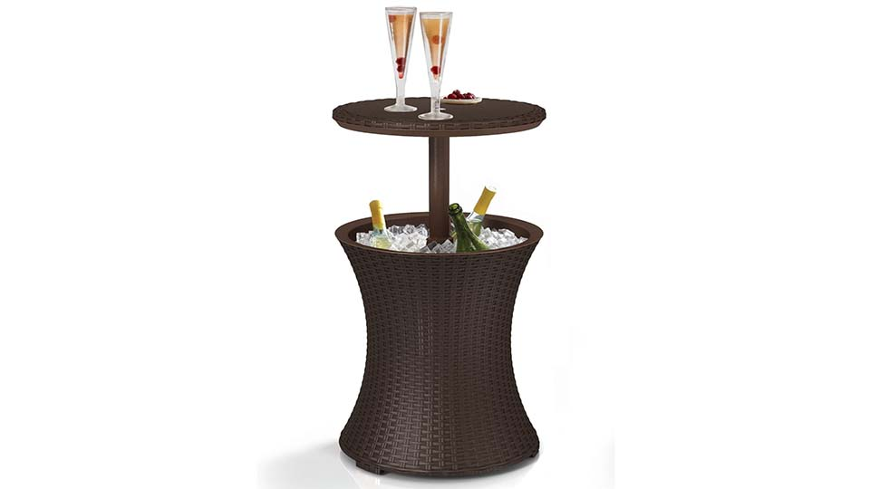 Rattan Cooler Table