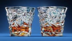 Diamond-Cut Scotch Whiskey Glasses