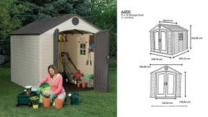 Lifetime 6405 8 x 10 ft. Outdoor Storage Shed