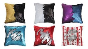 Reversible Mermaid Sequin Pillow Cover