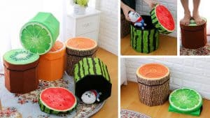 Fruit Folding Storage Ottoman