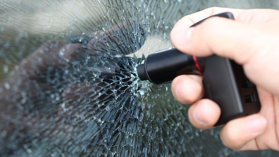 Spring Loaded Window Breaker Punch