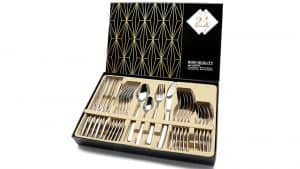 Modern Silverware Set with Gift Box