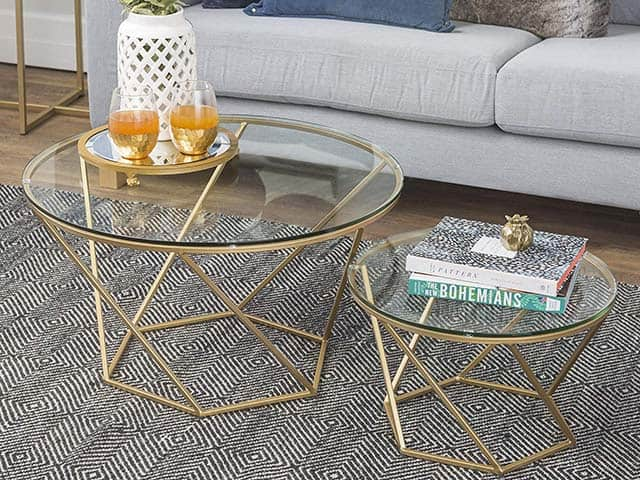 Glass Nesting Coffee Table