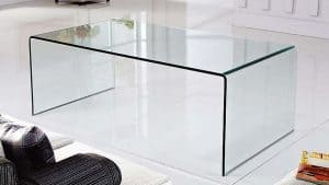 Tangkula Rectangular Glass Coffee Table