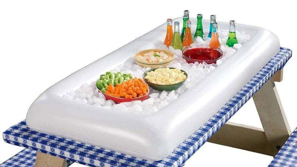 Inflatable Buffet Cooler with Drain Plug