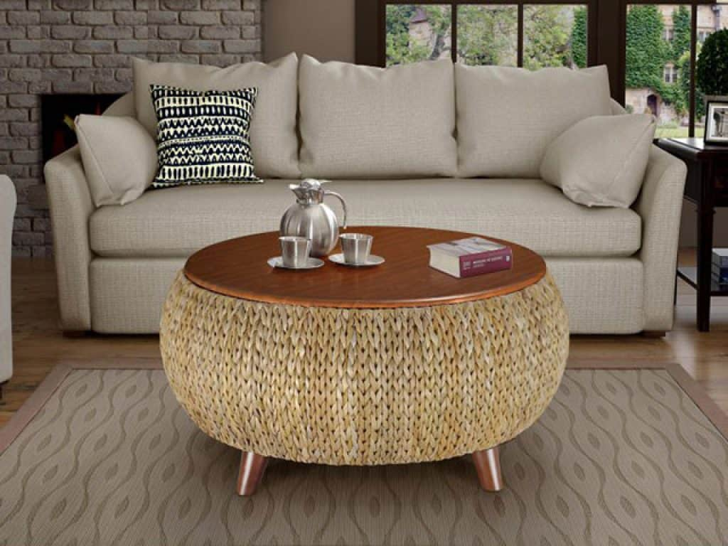Gallerie Decor Bali Breeze Round Storage Table