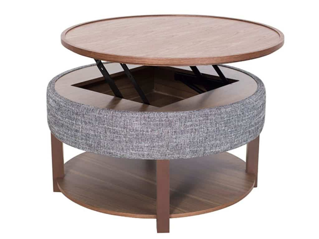 Neville Lift-Top Round Storage Coffee Table