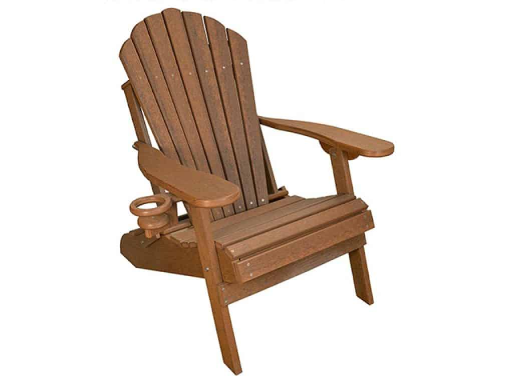ECCB Outdoor Outer Banks Deluxe Oversized Poly Lumber Folding Adirondack Chair
