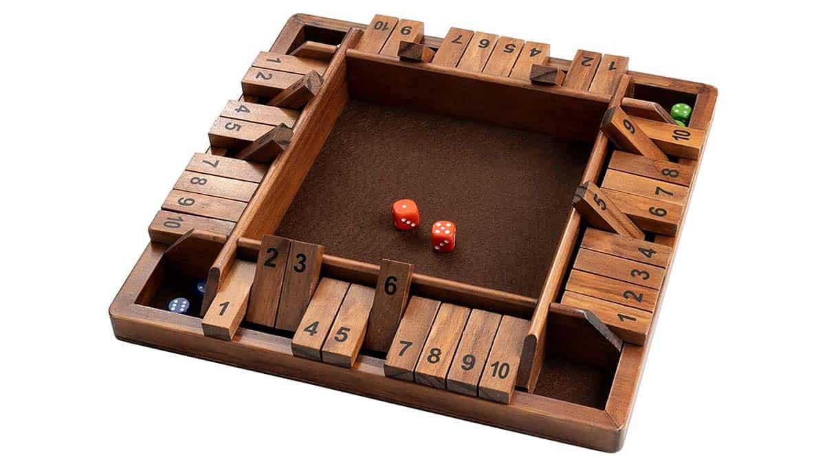 4-Way Shut The Box Dice Game