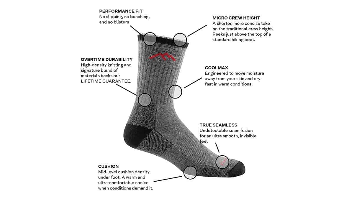 Darn Tough Coolmax Micro Crew Cushion Socks