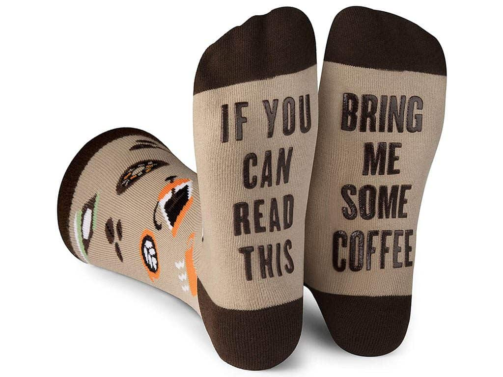 If You Can Read This Bring Me Some Coffee Socks