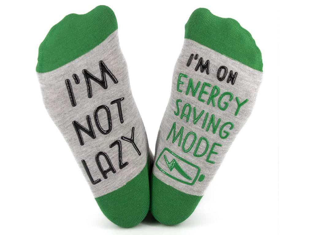I'm Not Lazy, I'm On Energy Saving Mode Socks